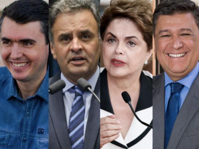 Dilma esta na frente para senado em Minas Gerais, Bruno Siqueira é segundo, e Aécio é terceiro.