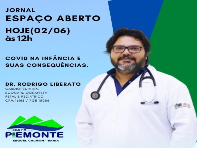 HOJE (02/06) NO JORNAL ESPAÇO ABERTO
