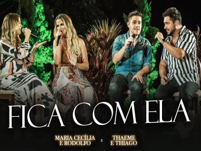 Parceira inédita! Maria Cecília & Rodolfo lançam música com Thaeme & Thiago