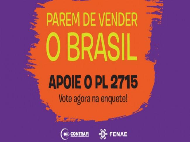 Fenae pede apoio para o Projeto de Lei que paralisa privatizações até 2022
