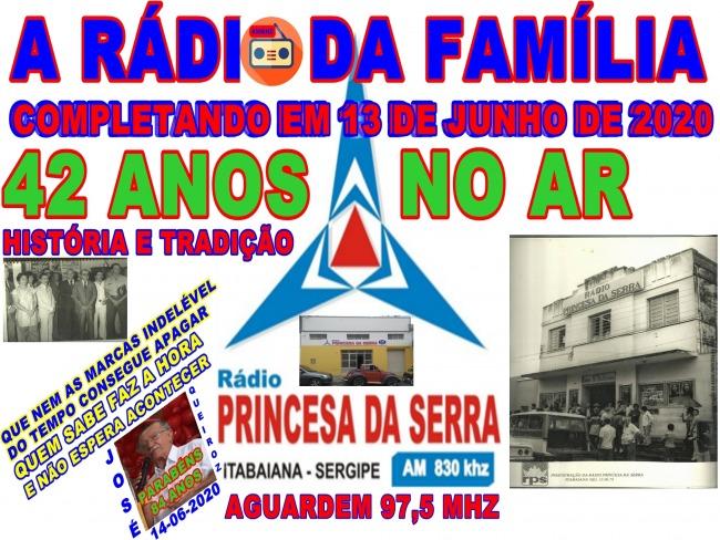 RÁDIO PRINCESA DA SERRA COMPLETANDO 42 ANOS NO AR